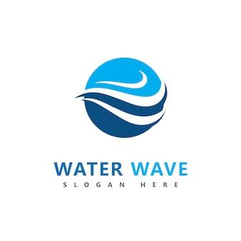 Conception d'illustration vectorielle vague logo symbole