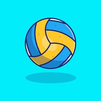 Conception d'illustration vectorielle de volley-ball réaliste