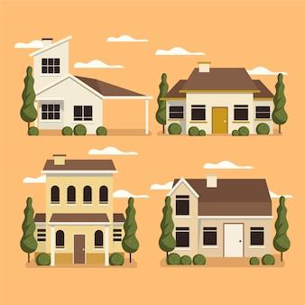 Conception illustrée de collection de maison