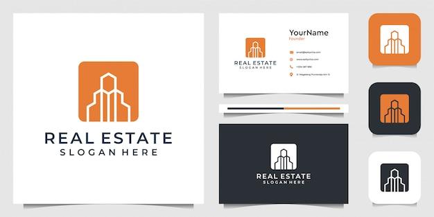 Conception immobilière dans un style moderne. bon pour la construction, la construction, le projet, l'architecture, les affaires, la publicité et la carte de visite
