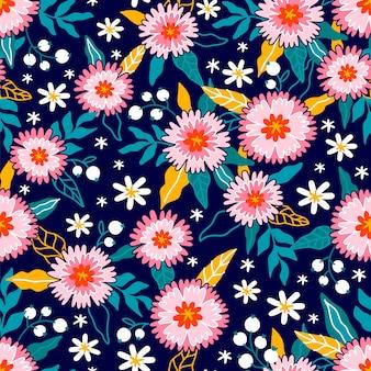 Conception d'impression florale. modèle avec des fleurs mignonnes.