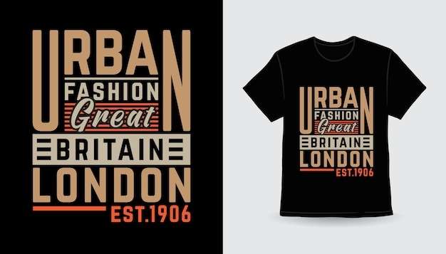 Conception d'impression de t-shirt de typographie moderne de mode urbaine