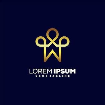 Conception impressionnante de logo de luxe de couronne à la maison