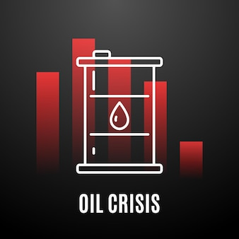 Conception de l'industrie pétrolière concept