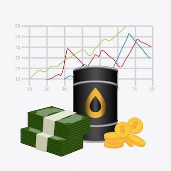 Conception de l'industrie pétrolière.