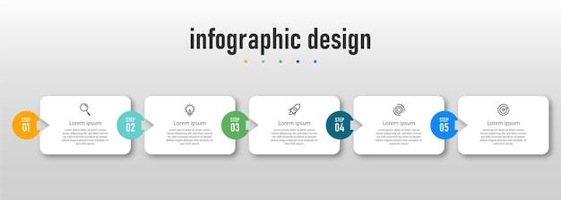 Conception d'infographie de chronologie d'étapes professionnelles