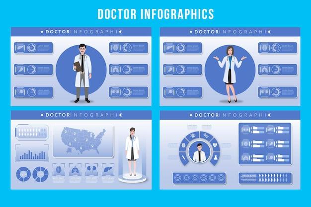 Conception d'infographie de médecin