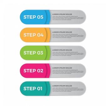 Conception infographique, concept d'options. modèle infographique de l'entreprise.