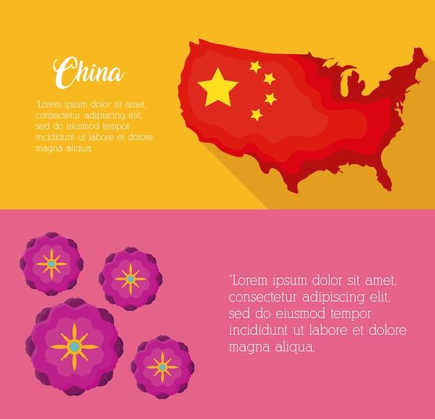 Conception infographique avec la culture de la chine