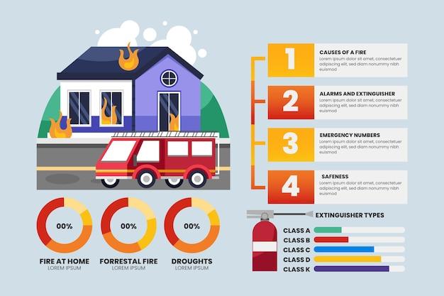 Conception infographique de feu dégradé