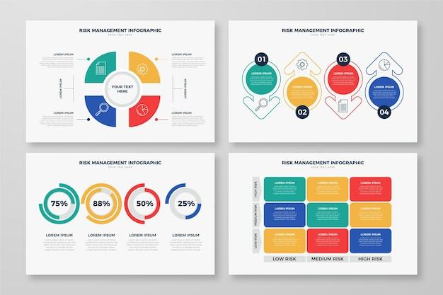 Conception infographique de gestion des risques