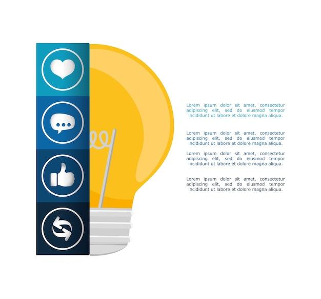 Conception infographique de grosse idée