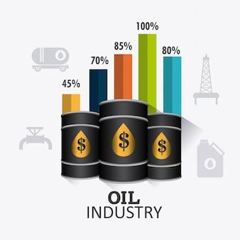 Conception infographique de l'industrie du pétrole et du pétrole
