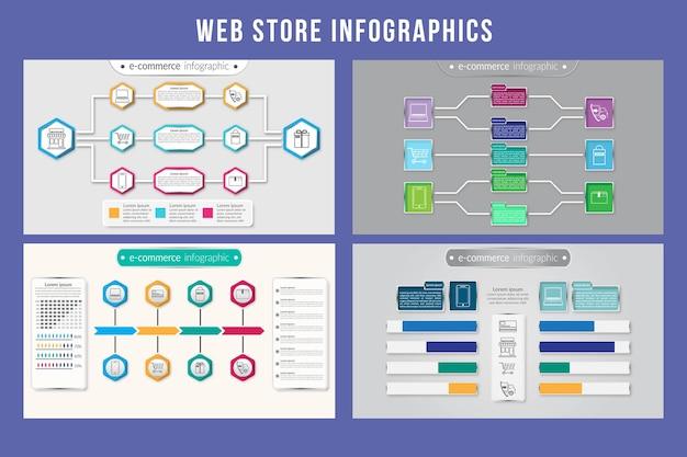 Conception Infographique De Magasin Web Vecteur Premium