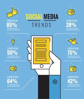 Conception infographique des médias sociaux