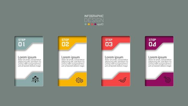 Conception infographique moderne en 4 étapes