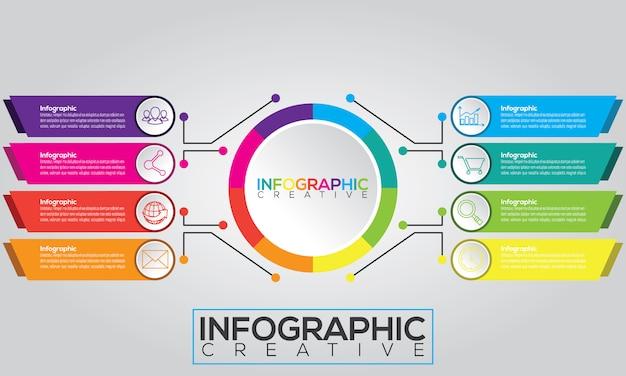 Conception infographique moderne avec structure de diagramme