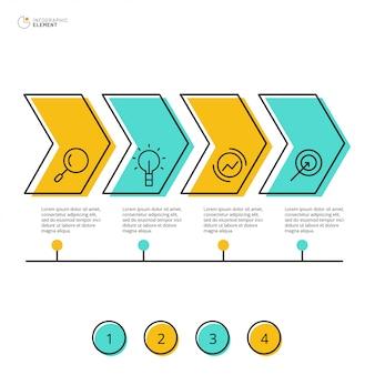 Conception infographique avec option 4