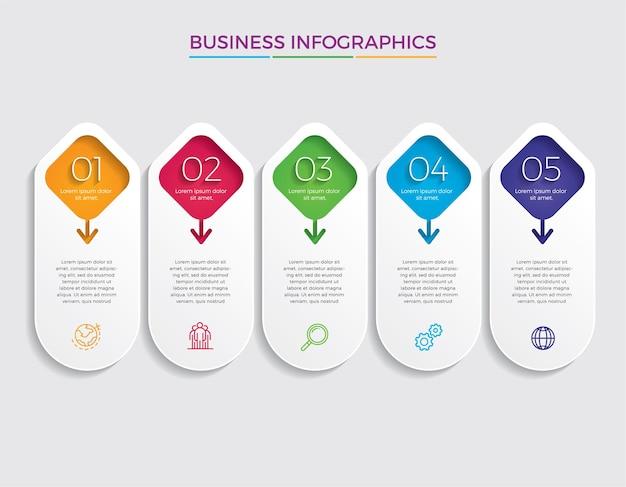 Conception infographique avec options