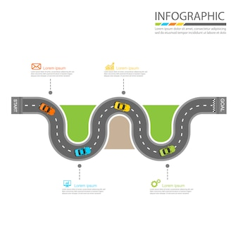Conception infographique de route