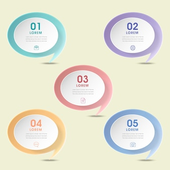 Conception infographique de simplicité avec des éléments de bulle de dialogue