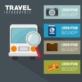 Conception infographique de voyage