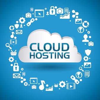 Conception informatique en nuage, illustration vectorielle.