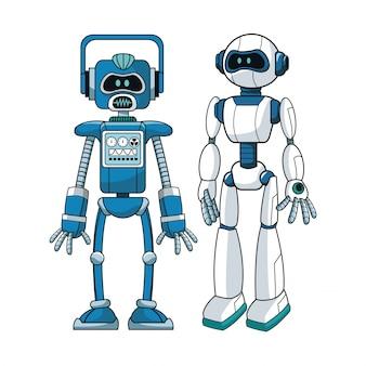 Conception d'ingénieur futuriste de robots
