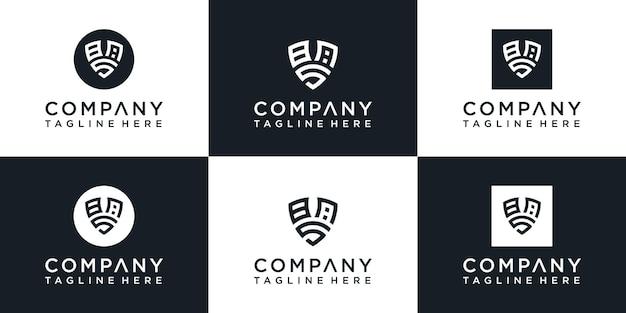 Conception initiale du logo du bouclier monogramme