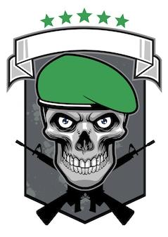 Conception d'insigne de crâne militaire