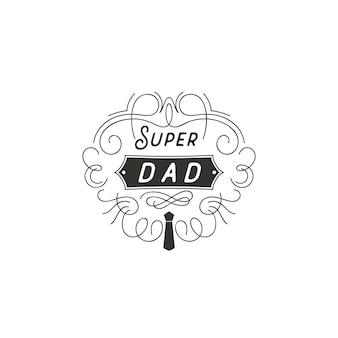 Conception d'insigne fête des pères