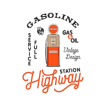Conception d'insigne de pompe de station-service vintage