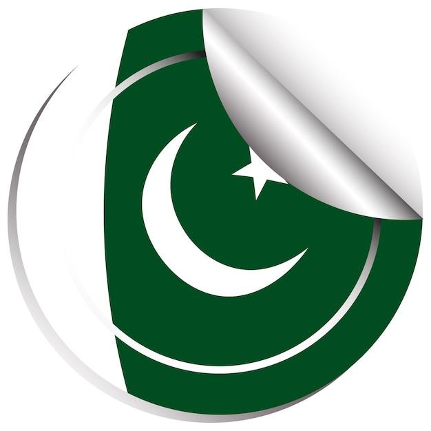 Conception d'insigne pour le drapeau du pakistan