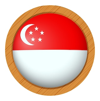 Conception d'insigne pour le drapeau de singapour