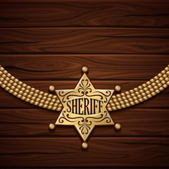 Conception d'insigne de shérif