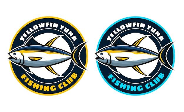 Conception d'insigne de thon à nageoires jaunes