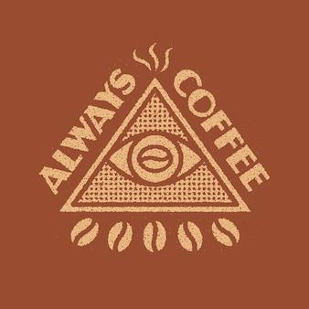 Conception d'insigne toujours café