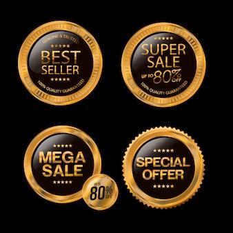 Conception d'insignes de vente, d'offres spéciales et de prix