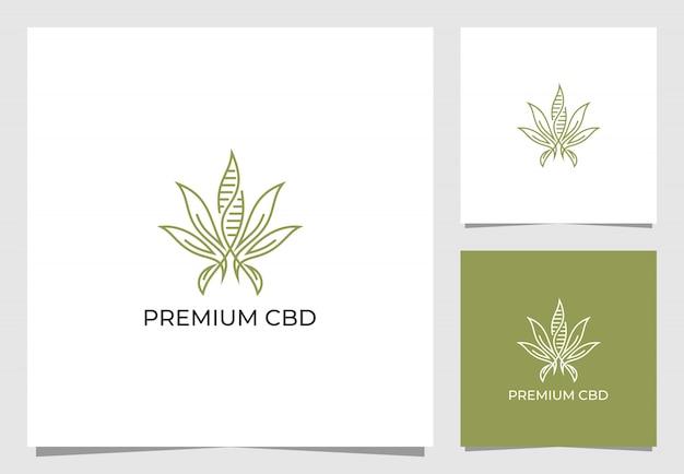 Conception d'inspiration de logo d'extraction de cannabis