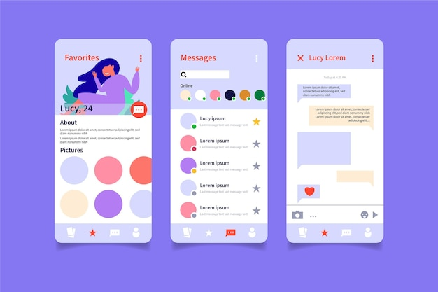 Conception d'interface de chat d'application de rencontres