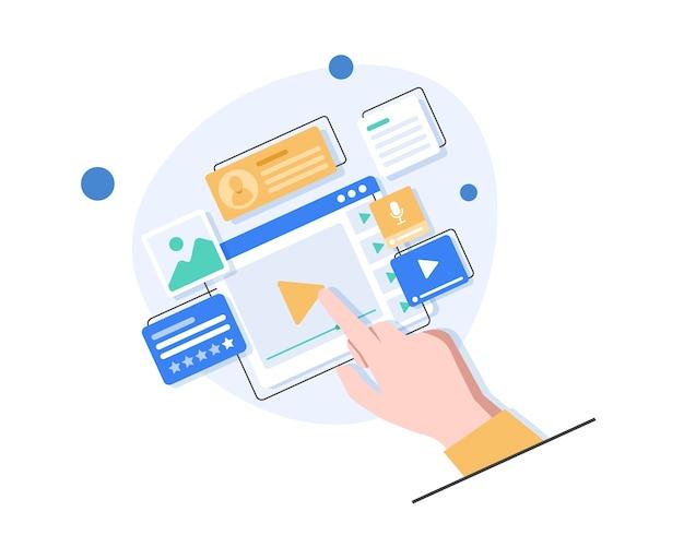 Conception d'interface utilisateur, développement d'applications et ui, conception ux. créatif