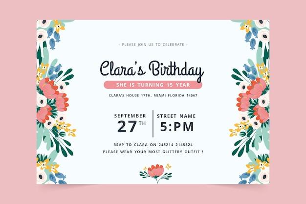 Conception d'invitation d'anniversaire