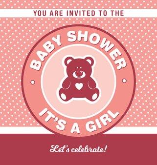 Conception d'invitation de baby shower