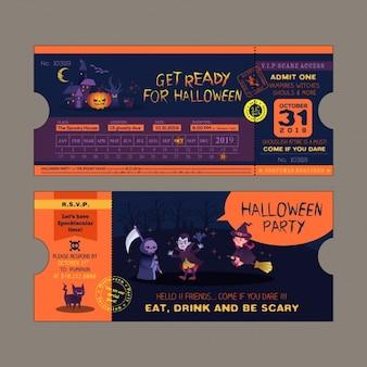 Conception d'invitation de fête d'halloween