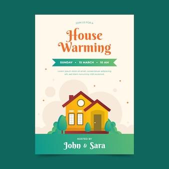 Conception d'invitation de fête de réchauffement de la maison