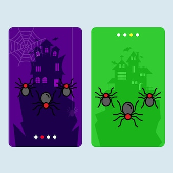 Conception d'invitation de halloween heureux avec le vecteur d'araignée