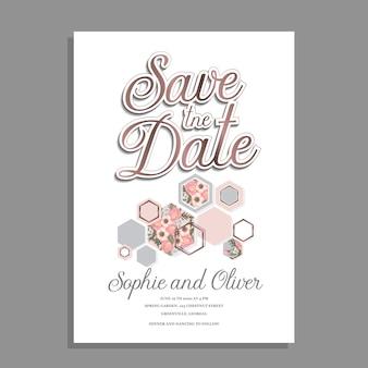 Conception d'invitation de mariage floral