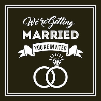 Conception d'invitation de mariage