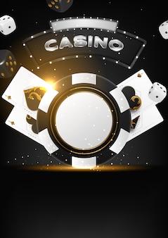 Conception d'invitation de tournoi de poker de casino.