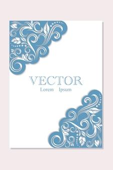 Conception d'invitation de vecteur - style vintage.